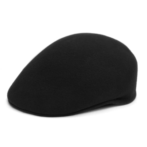 Classic Premium Wool Black English Hat