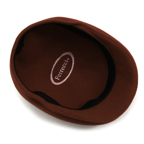 Classic Premium Wool Brown English Hat
