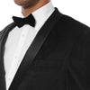 Enzo Black Slim Fit Velvet Shawl Collar Tuxedo Blazer