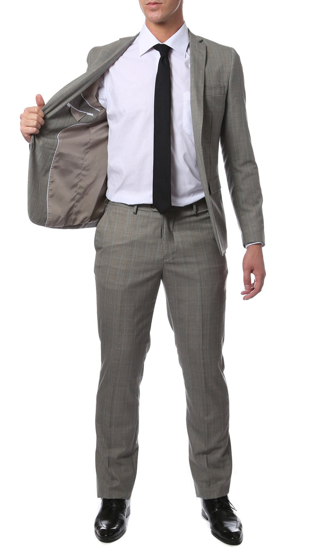 Etro Grey Glen Plaid Slim Fit 2 Piece Suit - Ferrecci USA