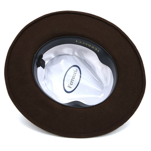 Premium Wool Brown Fedora Hat