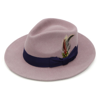 Premium Wool Lavender & Purple Fedora Hat