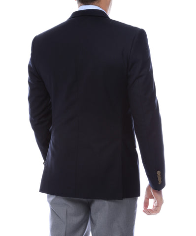 Finn Gold Button Slim Fit Navy Blazer