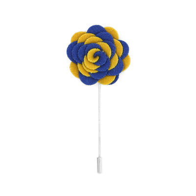 Florance 21 Royal Blue & Yellow Lapel Pin