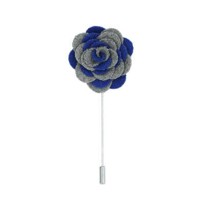 Florance 24 Grey Blue Lapel Pin