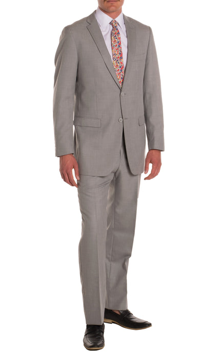 Ford Light Grey Regular Fit 2 Piece Suit - Ferrecci USA