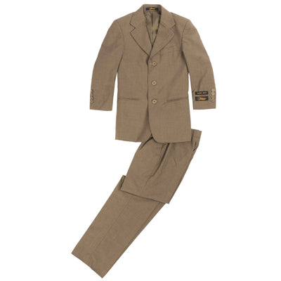 Boys Premium Brown Green 2 Piece Suit - Ferrecci USA