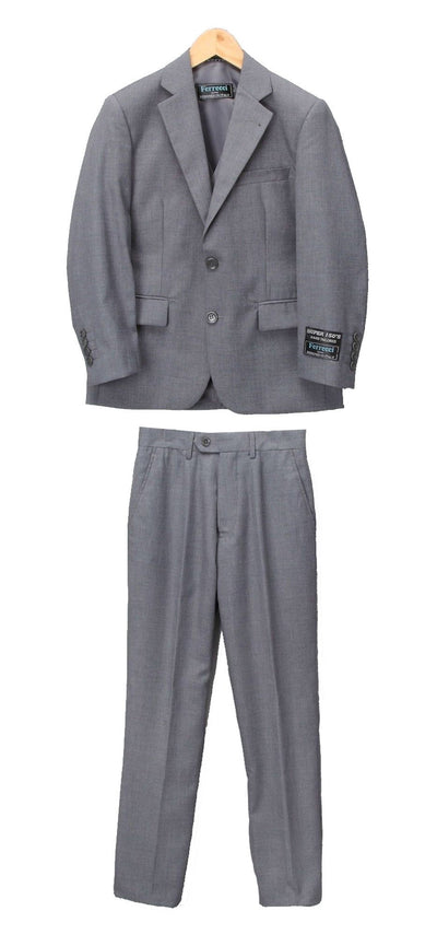 Boys Premium Medium Grey 2 piece Suit - Ferrecci USA