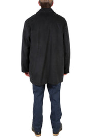 George Men's Wool Charcoal Top Coat - Ferrecci USA