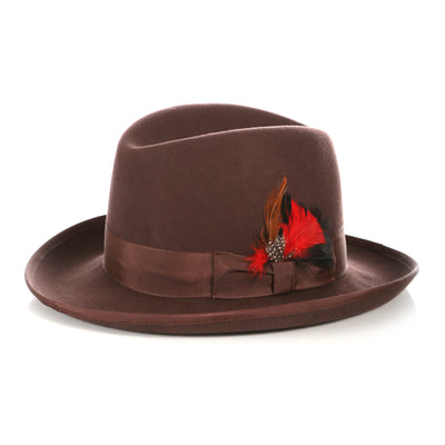 Ferrecci Premium Brown Godfather Hat