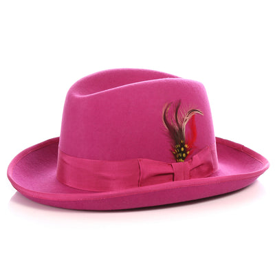 Ferrecci Premium Fuchsia Godfather Hat