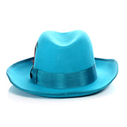Ferrecci Premium Turquoise Godfather Hat - Ferrecci USA