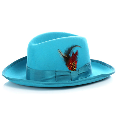 Ferrecci Premium Turquoise Godfather Hat