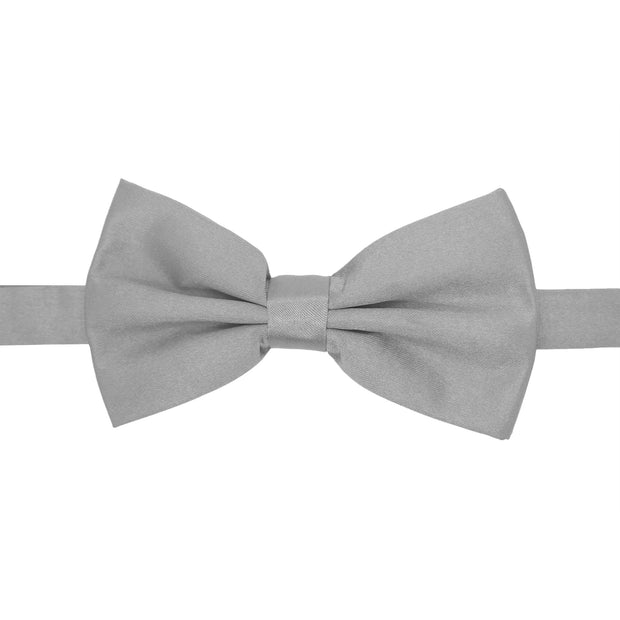 Gia Grey Satine Adjustable Bowtie - Ferrecci USA