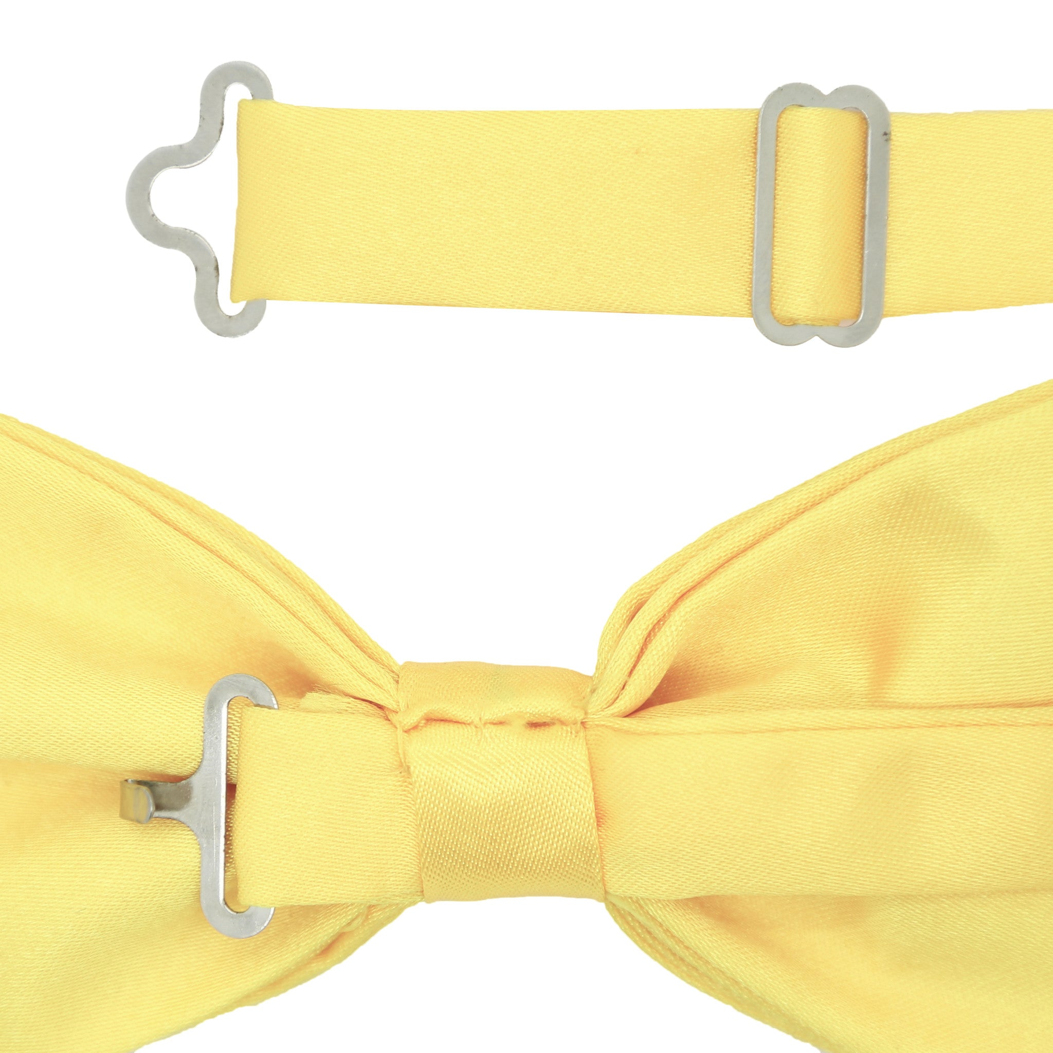 Gia Yellow Satine Adjustable Bowtie