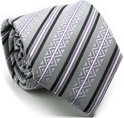 Premium Ziggy Striped Ties - Ferrecci USA