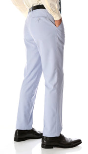 Ferrecci Men's Halo Sky Blue Slim Fit Flat-Front Dress Pants