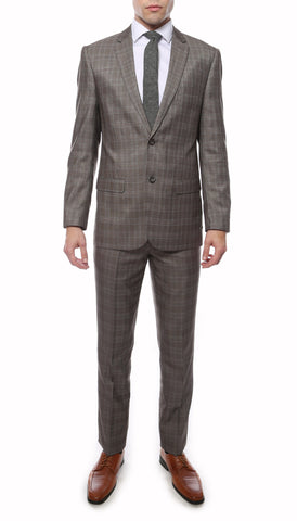 Hamilton Slim Fit Grey Check Suit