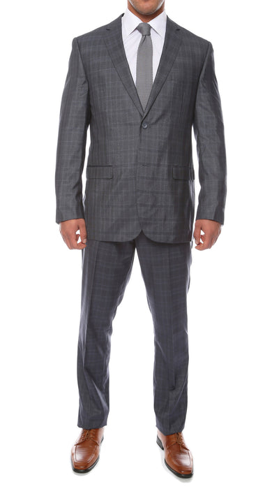 Hamilton Slim Fit Navy Check Suit - Ferrecci USA