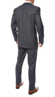 Hamilton Slim Fit Navy Check Suit