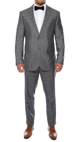 Hamilton Slim Fit Charcoal Check Suit