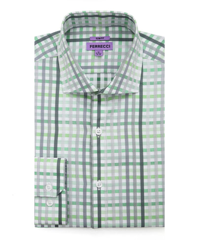 The Harlow Slim Fit Cotton Dress Shirt - Ferrecci USA