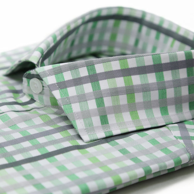 The Harlow Green Slim Fit Cotton Dress Shirt