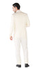 Hart 3pc Slim Fit Winter White Suit