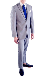 HART 2 Piece Light Grey Slim Fit Suit - Ferrecci USA