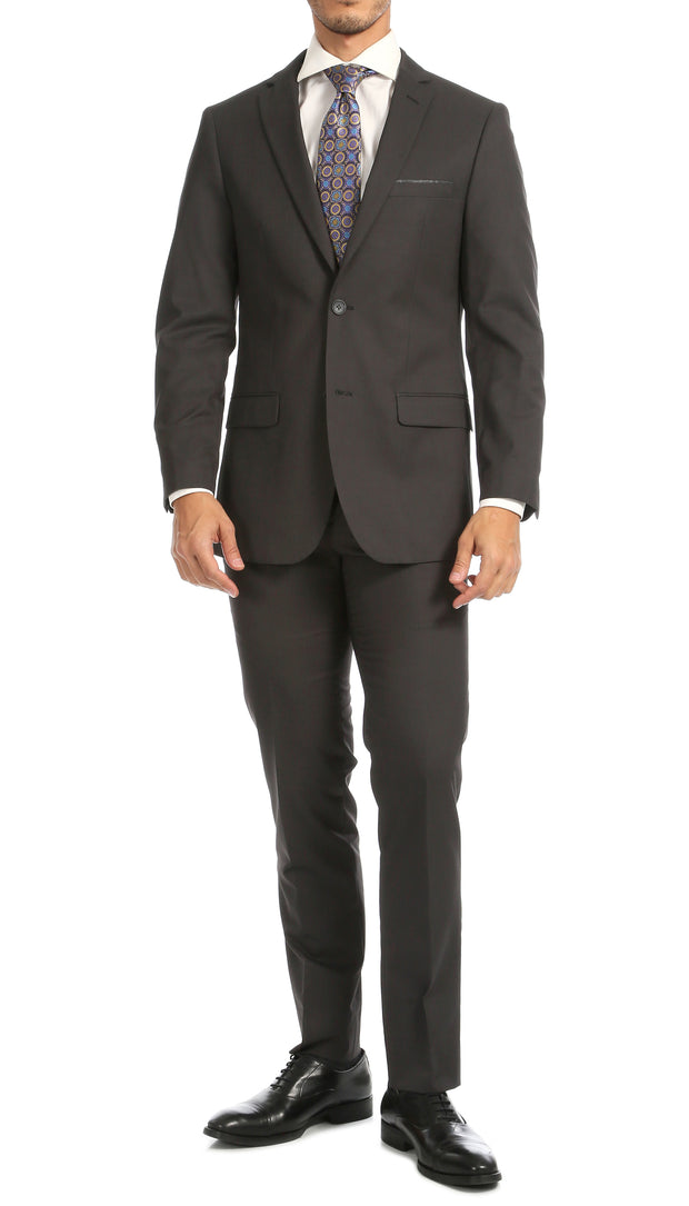 Windsor Charcoal Slim Fit 2pc Suit - Ferrecci USA