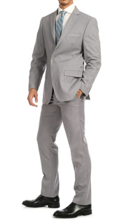 Windsor Light Grey Slim Fit 2pc Suit - Ferrecci USA