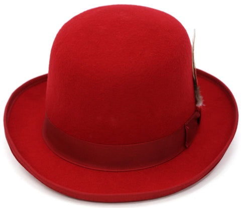 Premium Wool Derby Hat - Red