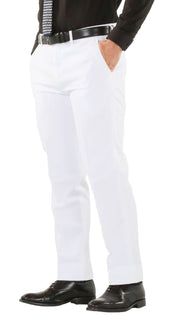 Paul Lorenzo Mens White Slim Fit 2 Piece Suit - Ferrecci USA