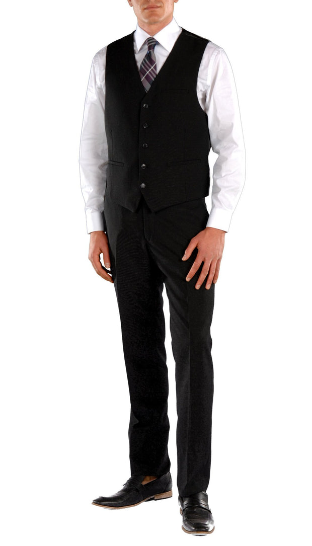 JAX Black Slim Fit 3 Piece Suit - Ferrecci USA