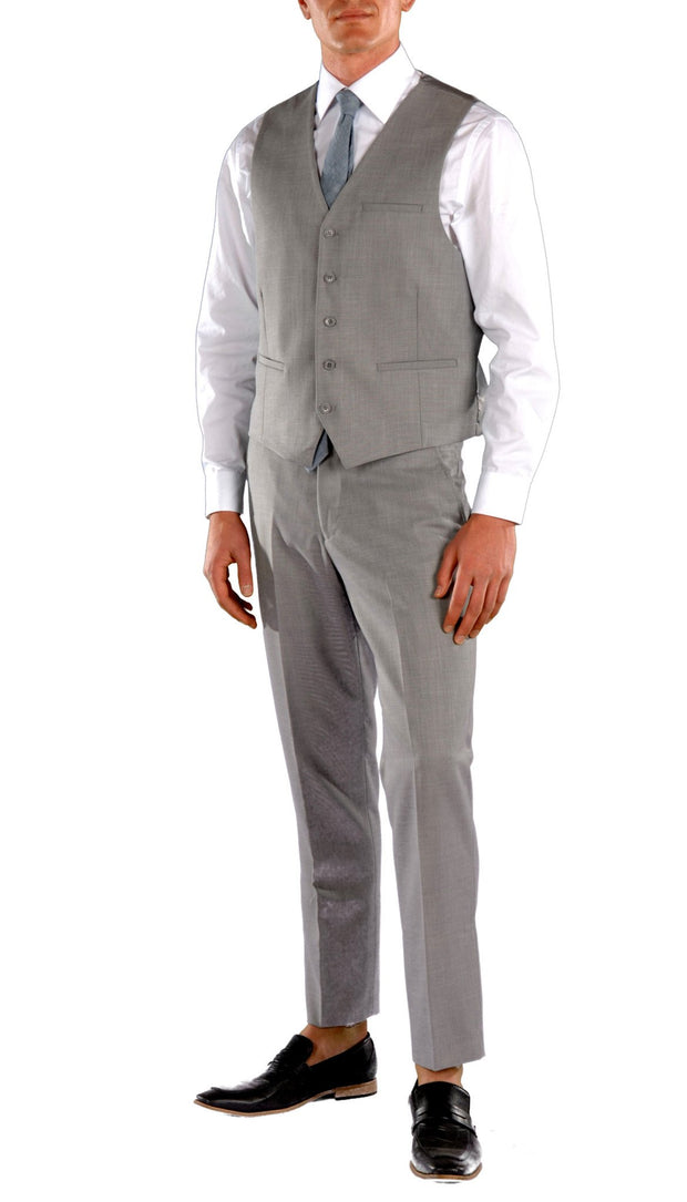 JAX Light Grey Slim Fit 3 Piece Suit - Ferrecci USA