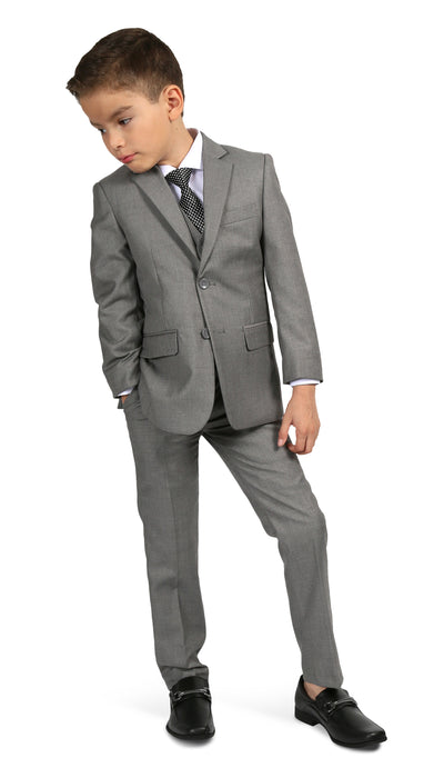 Ferrecci Boys JAX JR 5pc Suit Set Light Grey