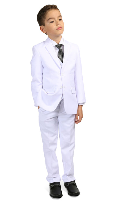 Ferrecci Boys JAX JR 5pc Suit Set White