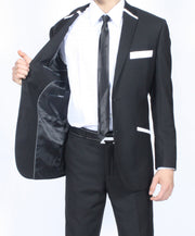 The JerseyBoy Black White Slim Fit Mens Blazer - Ferrecci USA