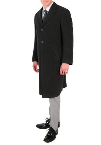 'Ken' Men's Wool Charcoal Top Coat