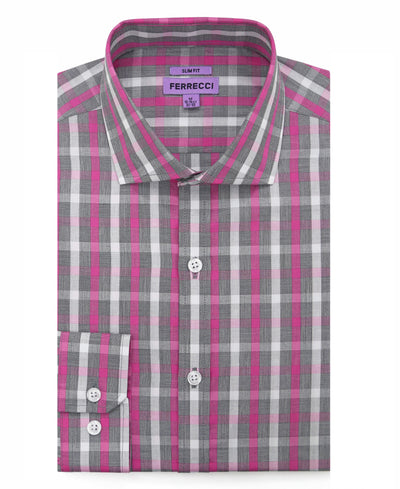 The Kenton Slim Fit Cotton Dress Shirt