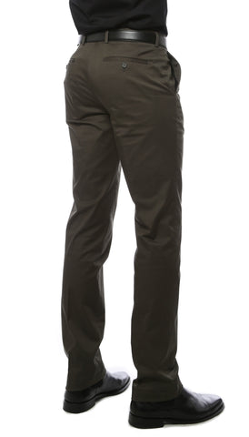 Zonettie Kilo Hunter Green Straight Leg Chino Pants