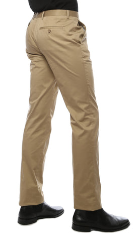 Zonettie Kilo Khaki Straight Leg Chino Pants