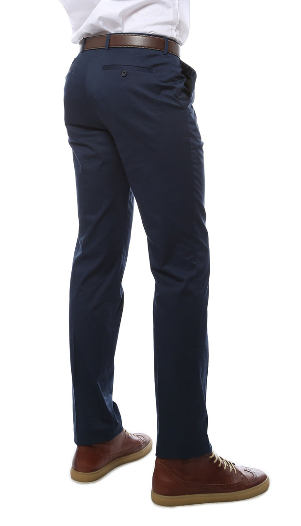Zonettie Kilo Navy Straight Leg Chino Pants - Ferrecci USA