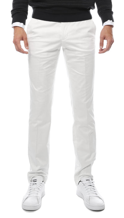 Zonettie Kilo Off White Straight Leg Chino Pants - Ferrecci USA