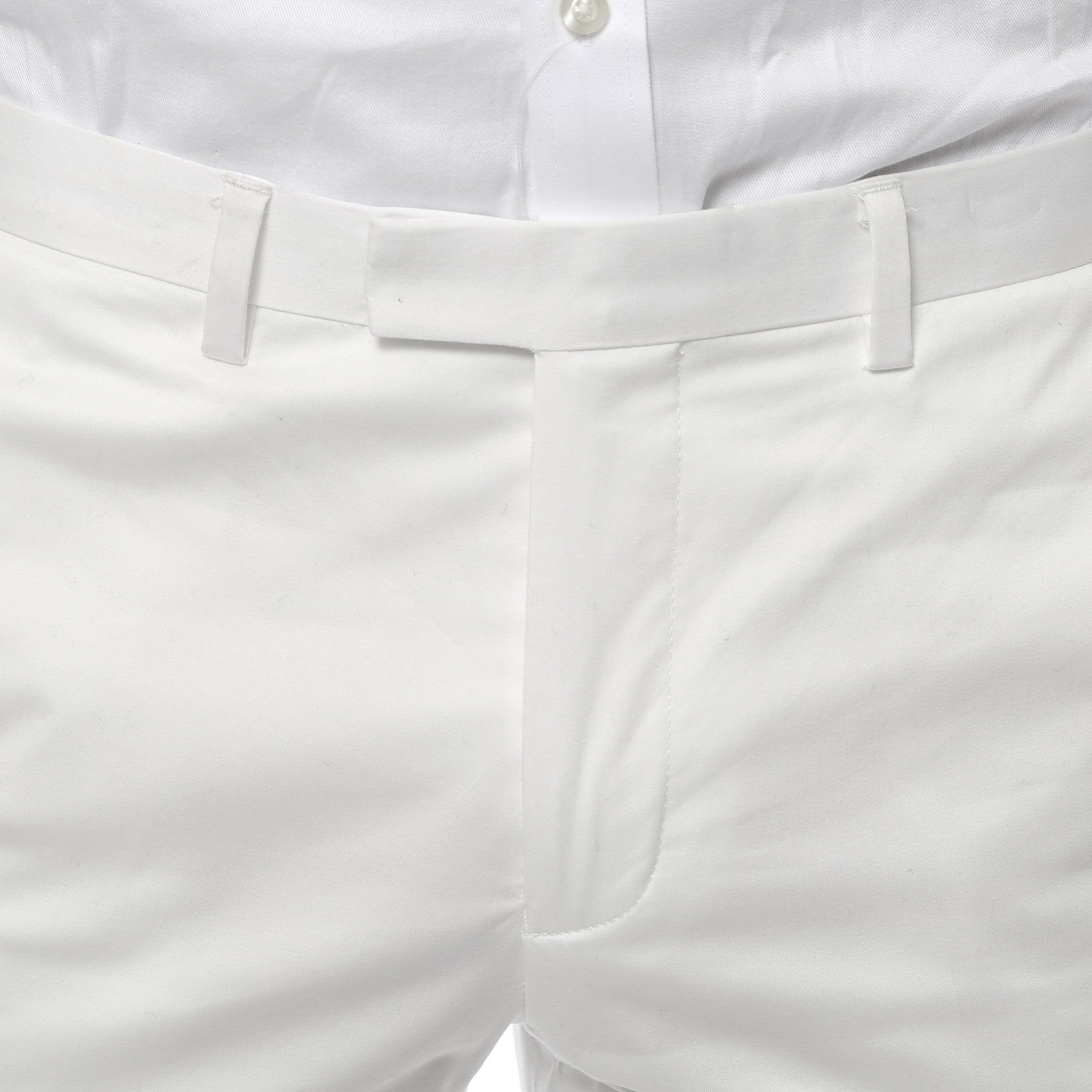 Zonettie Kilo Off White Straight Leg Chino Pants