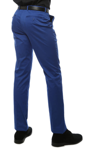 Zonettie Kilo Royal Blue Straight Leg Chino Pants