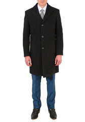 topcoat mens charcoal black
