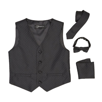 Premium Boys Black Diamond Vest 300 Set - Ferrecci USA