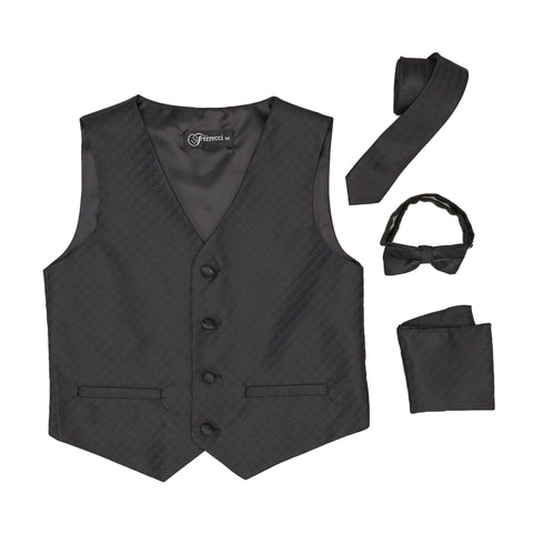 Premium Boys Black Diamond Vest 300 Set