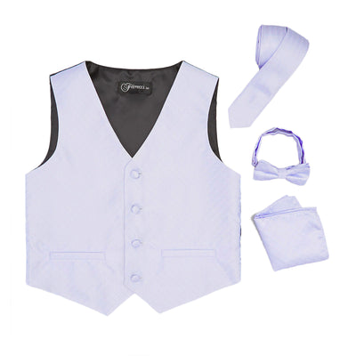 Premium Boys Lilac Diamond Vest 300 Set - Ferrecci USA